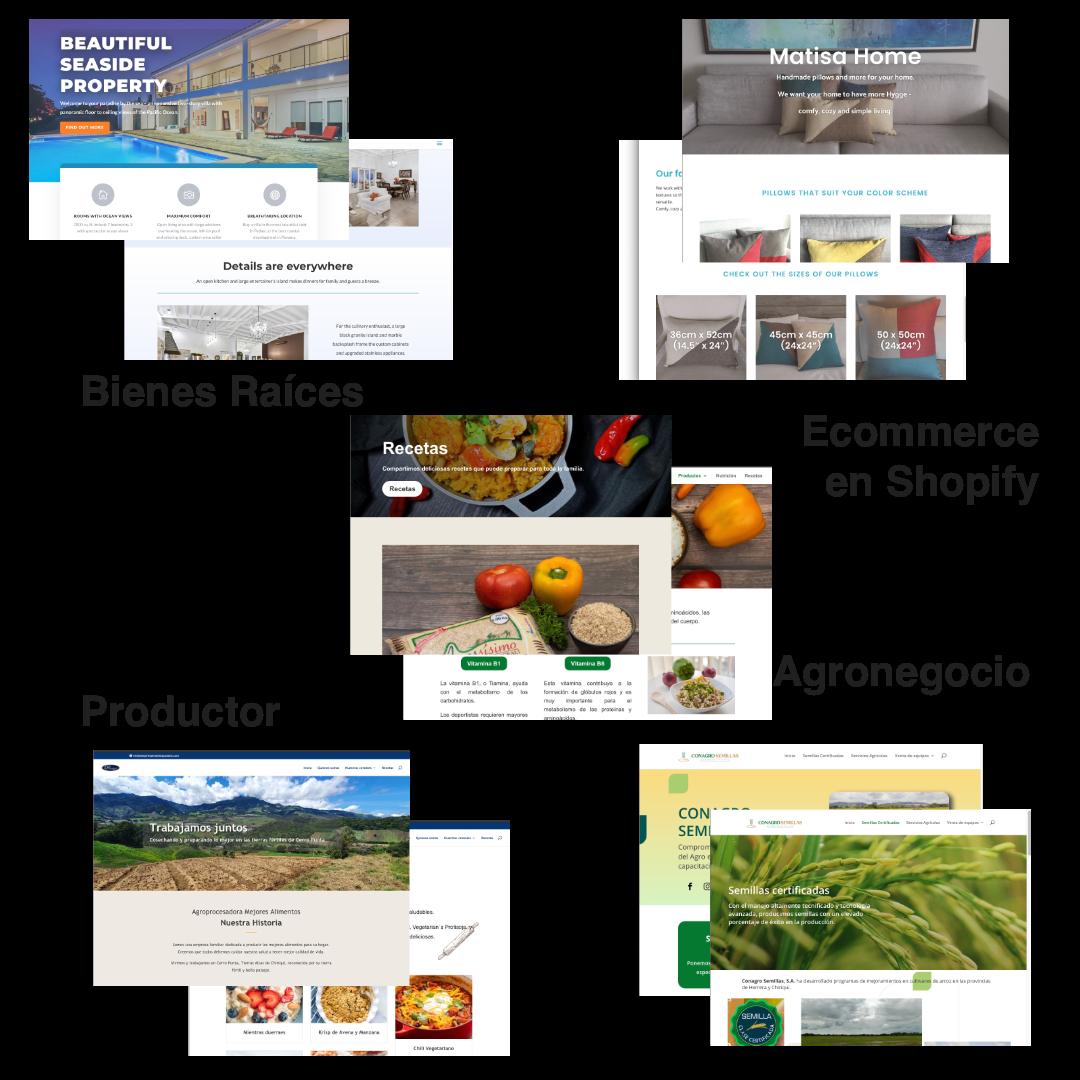 portfolio de Sitios web diseñados y publicados por WoohooSTUDIO